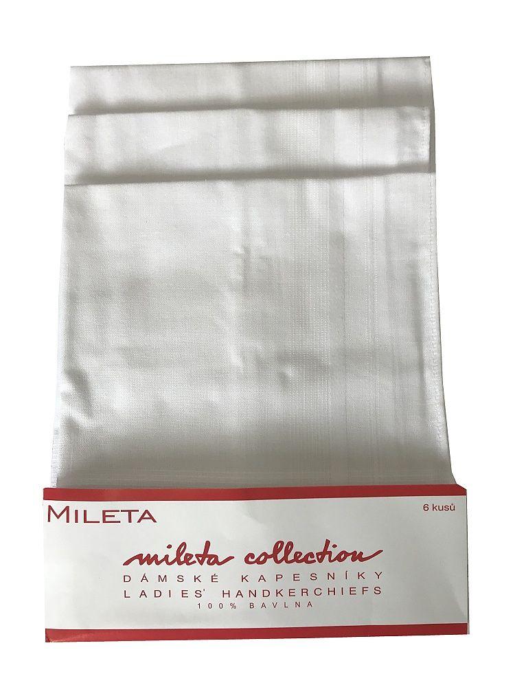 Dámský kapesník Greta 3821 bílé Mileta