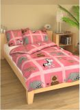 Povlečení bavlna do postýlky Zebra na růžovém
