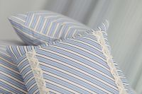 Bavlněné povlečení starodávného stylu s motivem modrého pruhu český výrobce