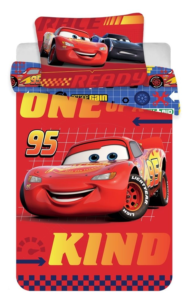 Bavlněné povlečení do postýlky Cars na červeném