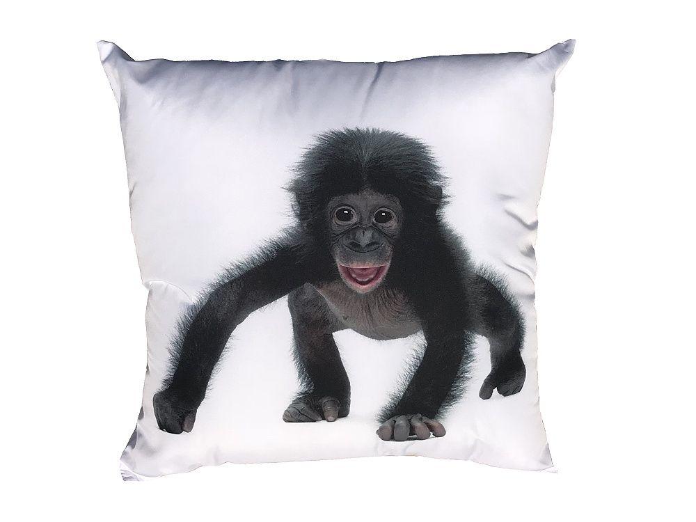 Polštářek s motivem černého opičáka Dadka