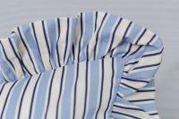 Krepové povlečení starodávného stylu s motivem modrého pruhu český výrobce
