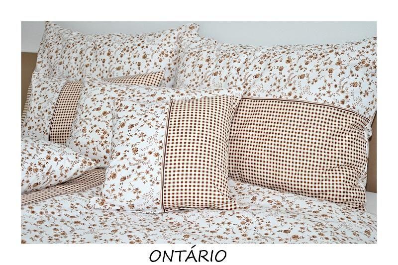 Kvalitní bavlněné povlečení s kostičkami a kytičkami v hnědo-bílé kombinaci 1x 140/200, 1x 90/70 Fitex