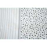 Kvalitní krepové povlečení s pruhy a puntíky v šedo-bílé kombinaci. Fitex