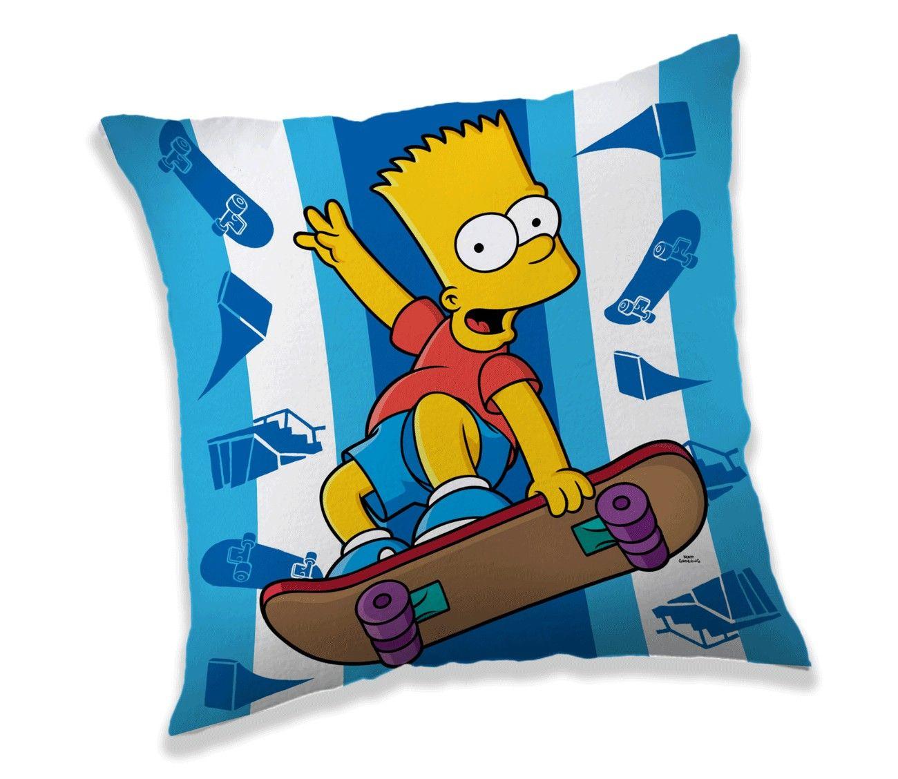 Hezký polštářek Bart Simpson na skatu Jerry Fabrics
