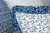 Povlak s kanýrem VĚTVIČKY modro-bílé