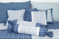 Povlak váleček VĚTVIČKY modro-bílé český výrobce