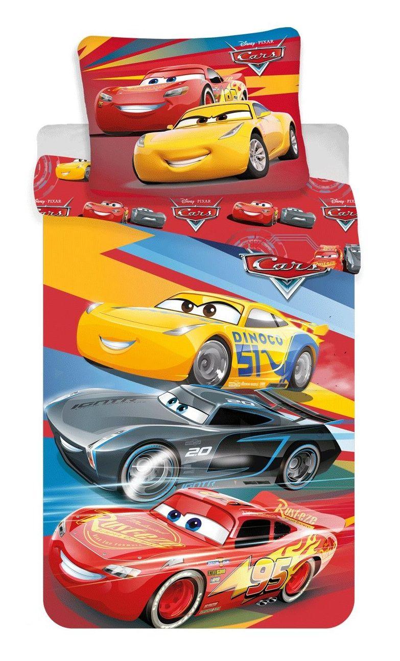 Bavlněné povlečení pro chlapce Cars, auta červené Jerry Fabrics