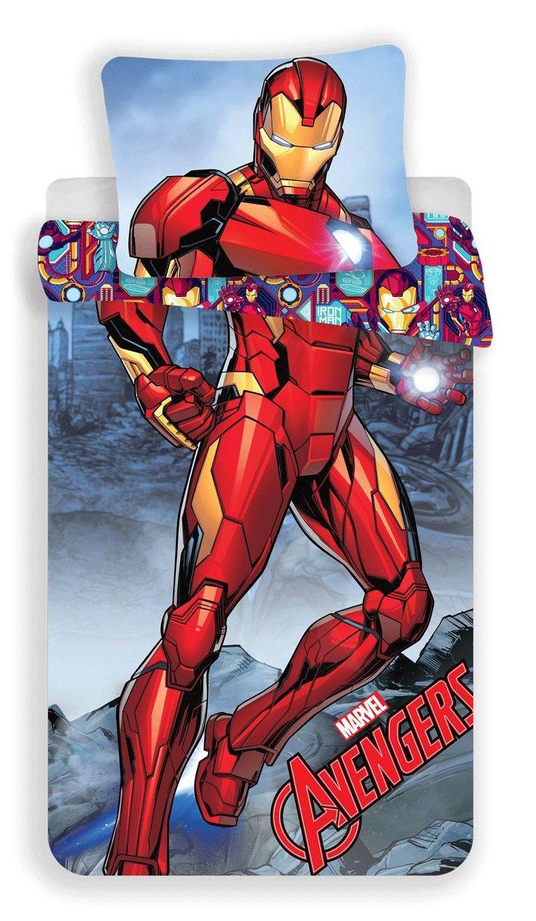 Povlečení pro chlapce Iron-man na modrém podkladu Jerry Fabrics