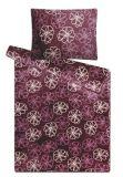 Mikroflanelové povlečení fialové květiny, kytička Svitap
