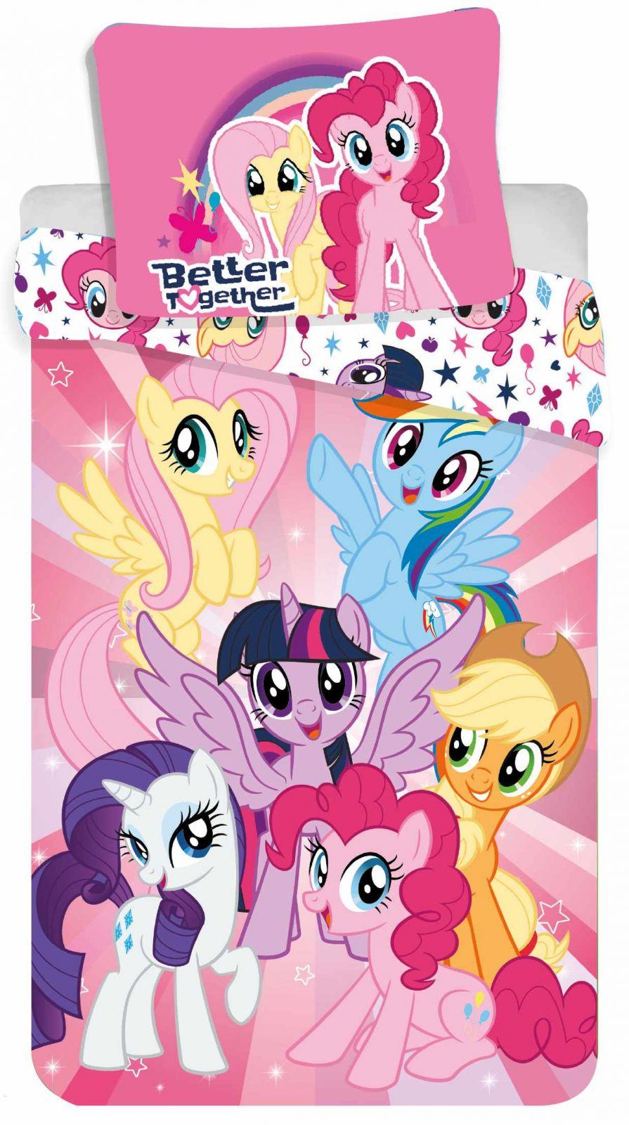 Dívčí povlečení růžové My Little Pony Jerry Fabrics