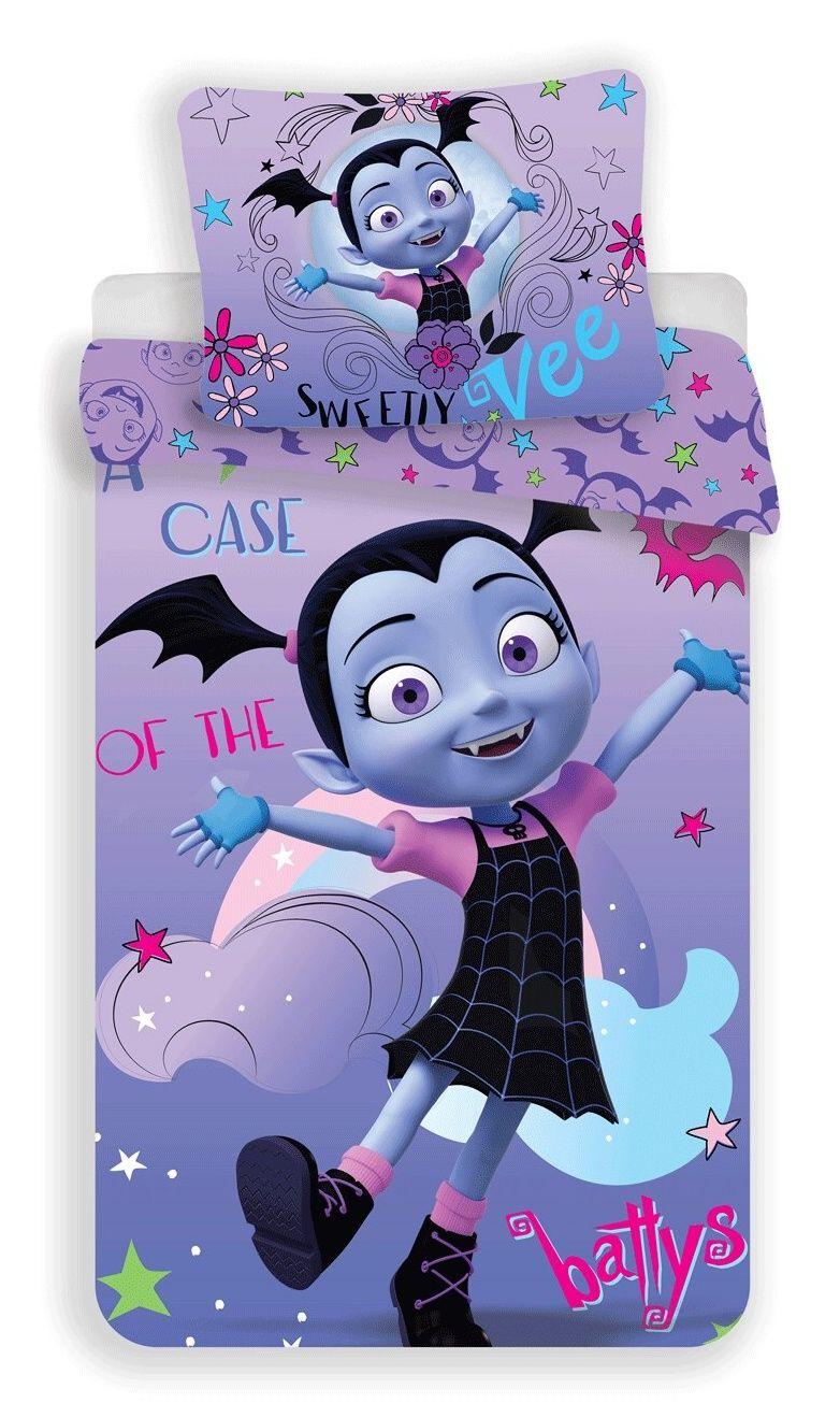 Dívčí bavlněné povlečení fialové s vampírkou Jerry Fabrics