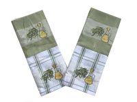Utěrky vaflové olivy - 2  ks