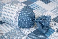 Bavlněné povlečení starodávného stylu s motivem patchworku v kombinaci puntíků český výrobce