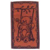 Dětský ručník Medvídek oranžovomodrý