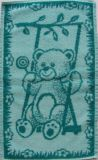 Dětský ručník Medvídek zelený