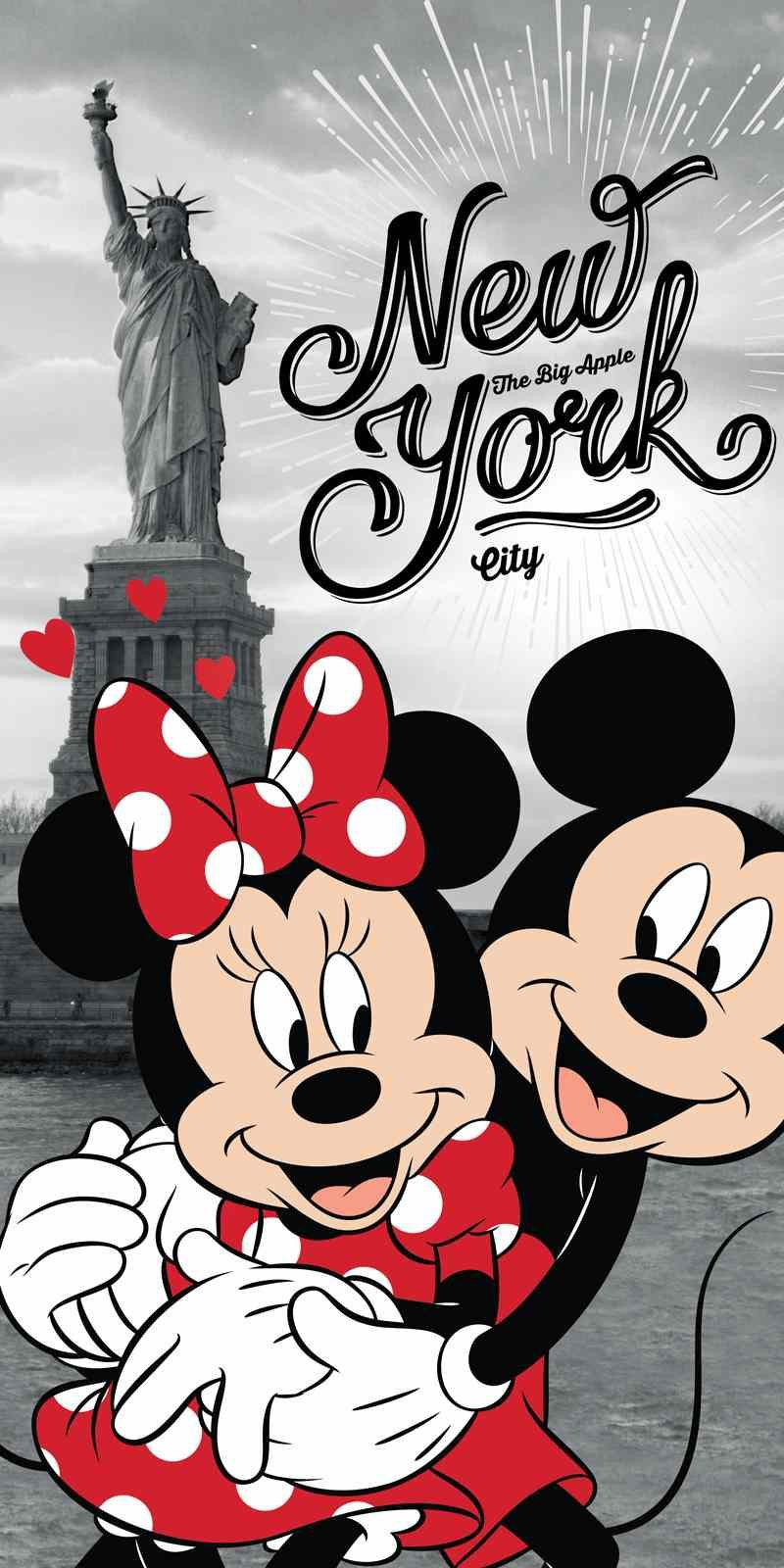 Osuška Minnie a Mickey Mouse v New Yorku Jerry Fabrics