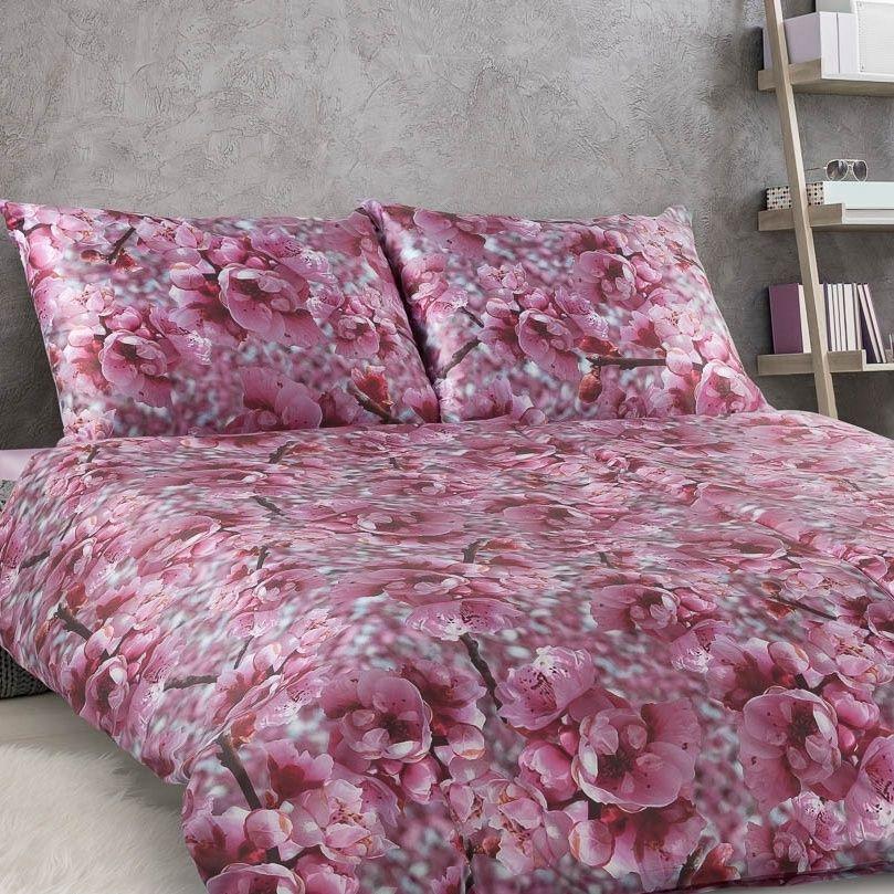 Luxusní damaškové ložní povlečení Geon Třešňový květ s květinovým vzorem Veba