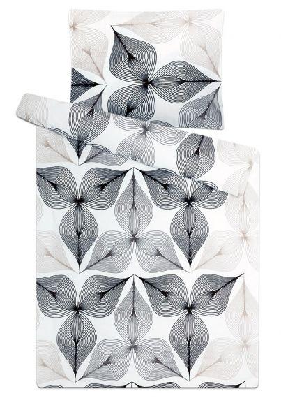 Mirkoflanelové povlečení v barvě bílé a černé Symbióza černobílá, 1x 140/200, 1x 90/70 Svitap