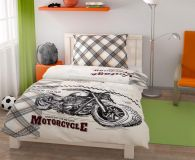 Bavlněné povlečení pro mladé a teenagery s motorkou, motorka Kvalitex