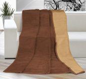 Jednobarevná deka  čokoládová / oříšková 150/200cm