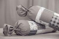 Krepové povlečení starodávného stylu se vzorem patchworku v kombinaci puntíků český výrobce