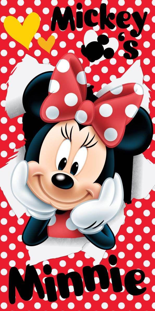 Osuška pro děti s motivem Minnie na červeném podkladu Jerry Fabrics