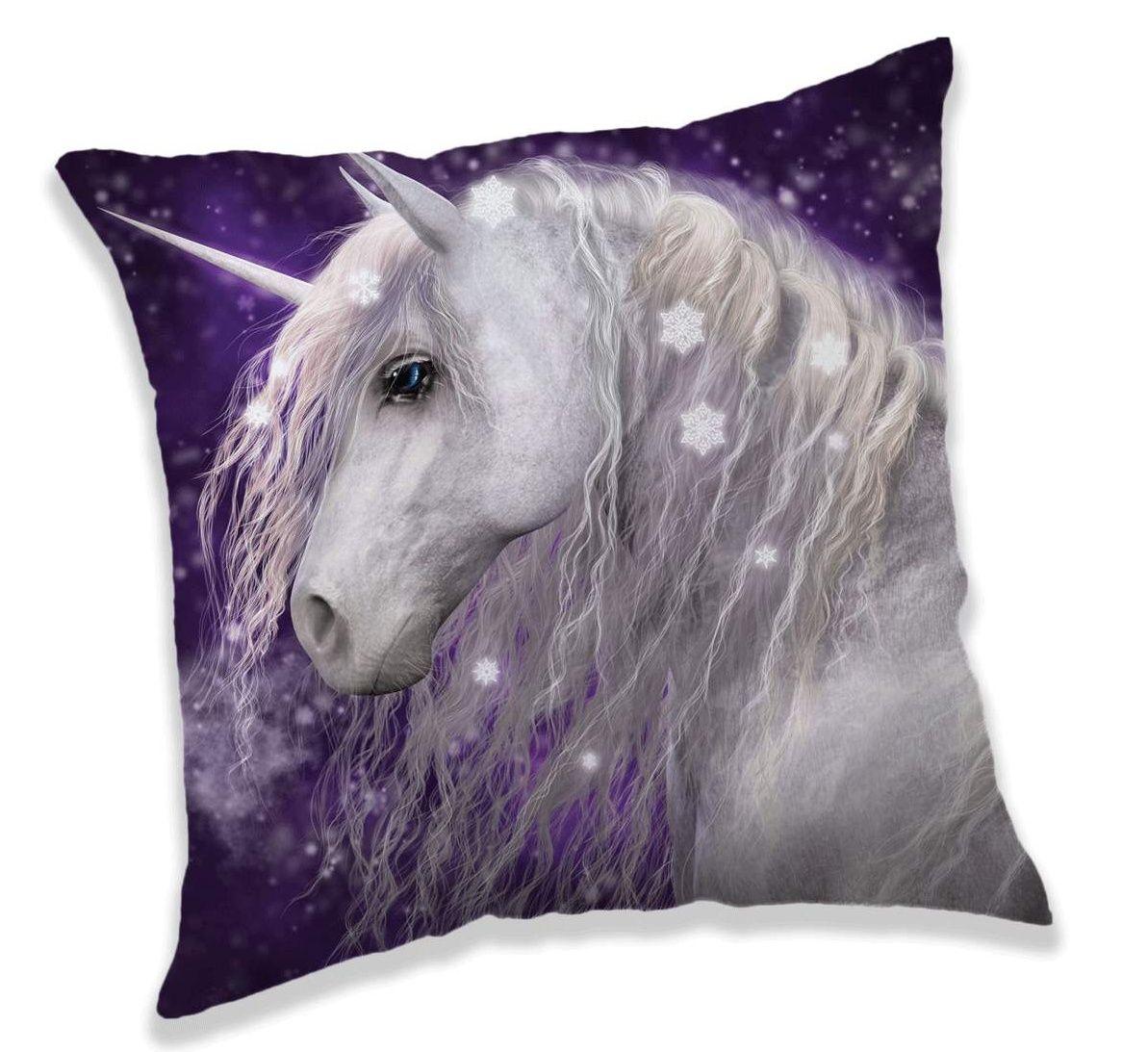 Polštářek pro dívky s motivem Unicorn fialové barvy Jerry Fabrics