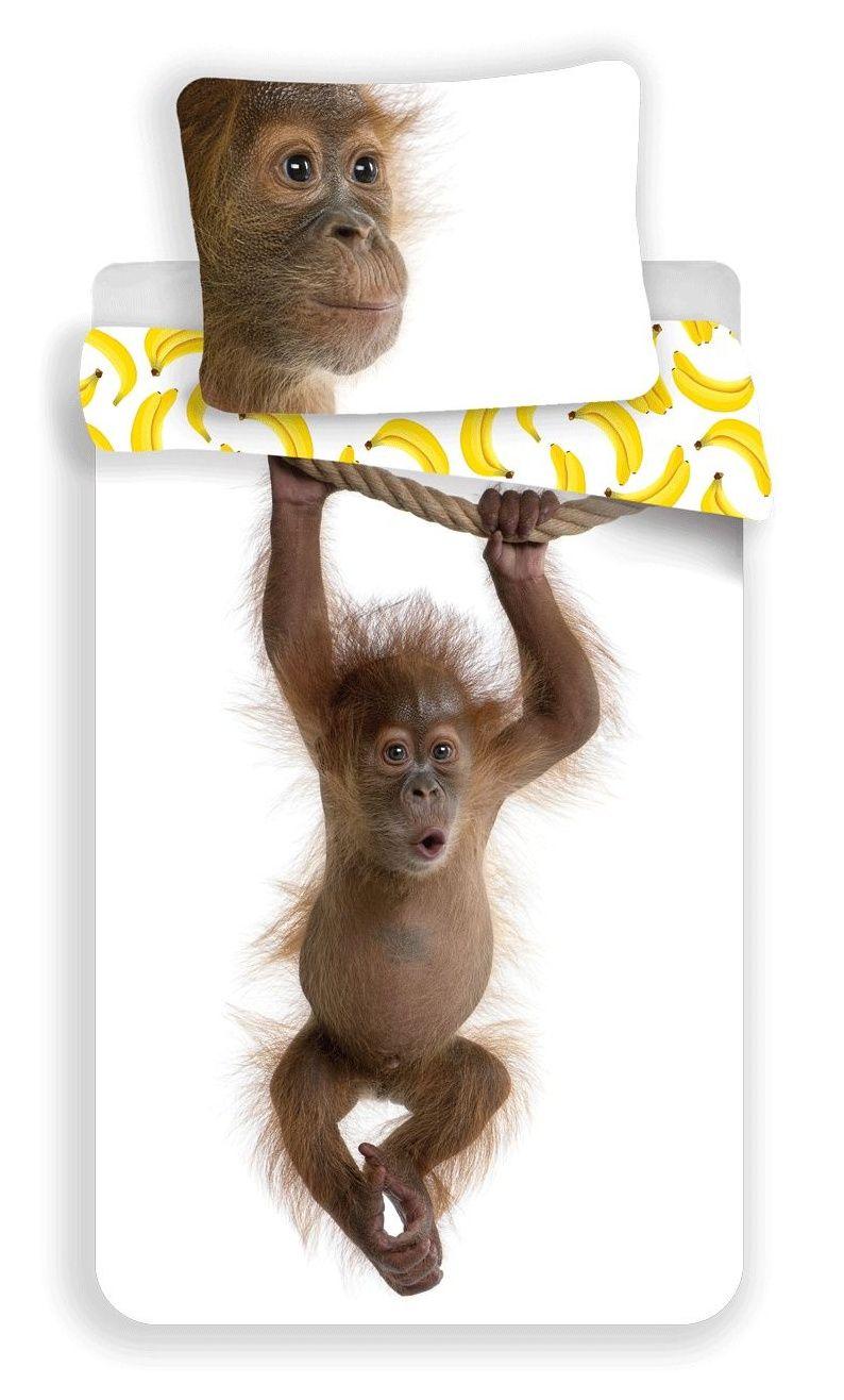 Povlečení bavlněné Orangutan - opice Jerry Fabrics