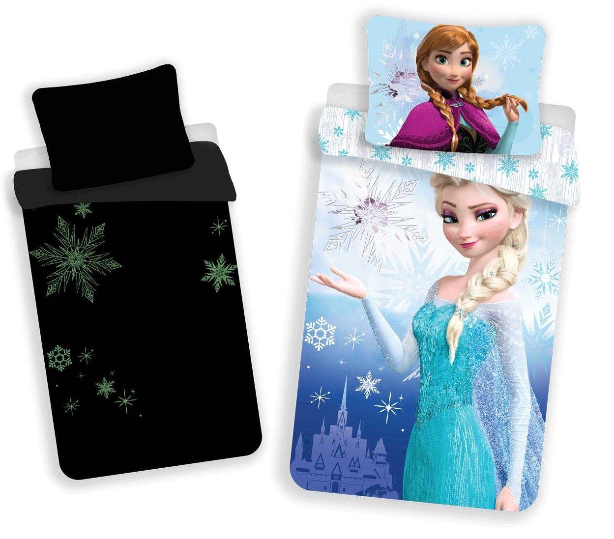 Bavlněné povlečení Frozen, Ledové království se svítícím efektem Jerry Fabrics