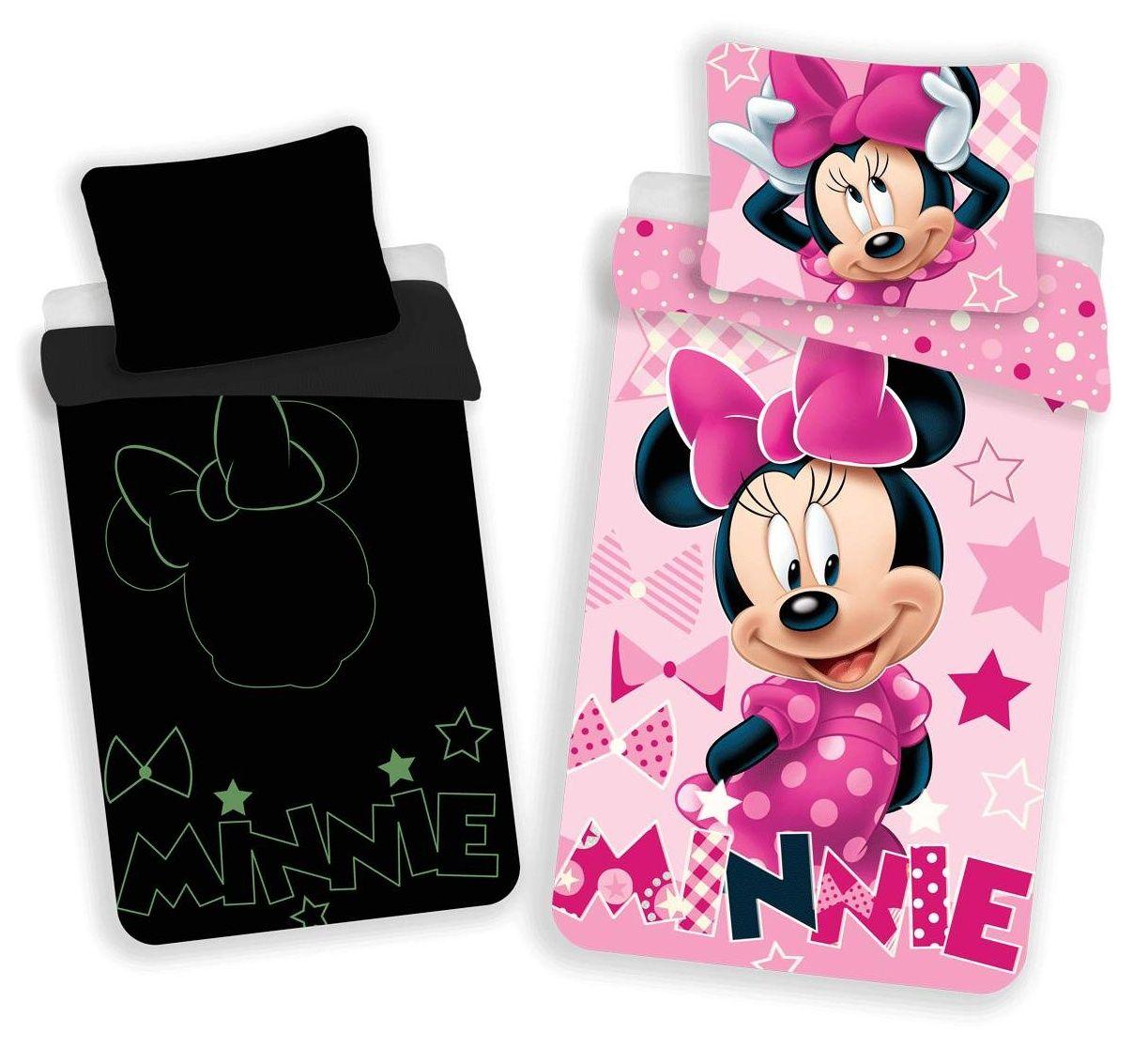 Dětské povlečení se svítícím efektem Minnie růžová Jerry Fabrics