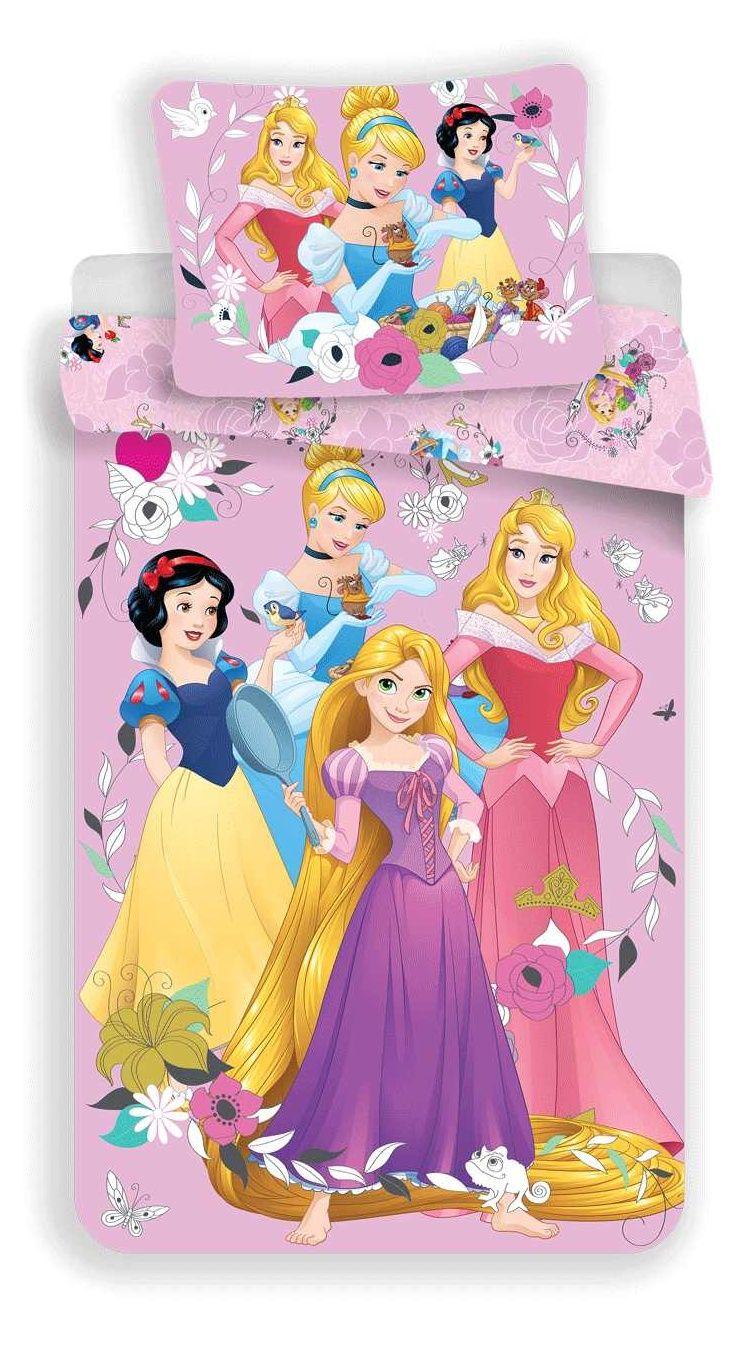 Bavlněné povlečení pro dívky s princeznami na růžovém podkladu Jerry Fabrics