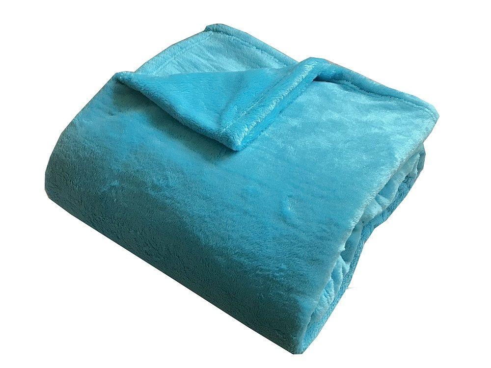 Super soft deka v tyrkysové barvě Dadka