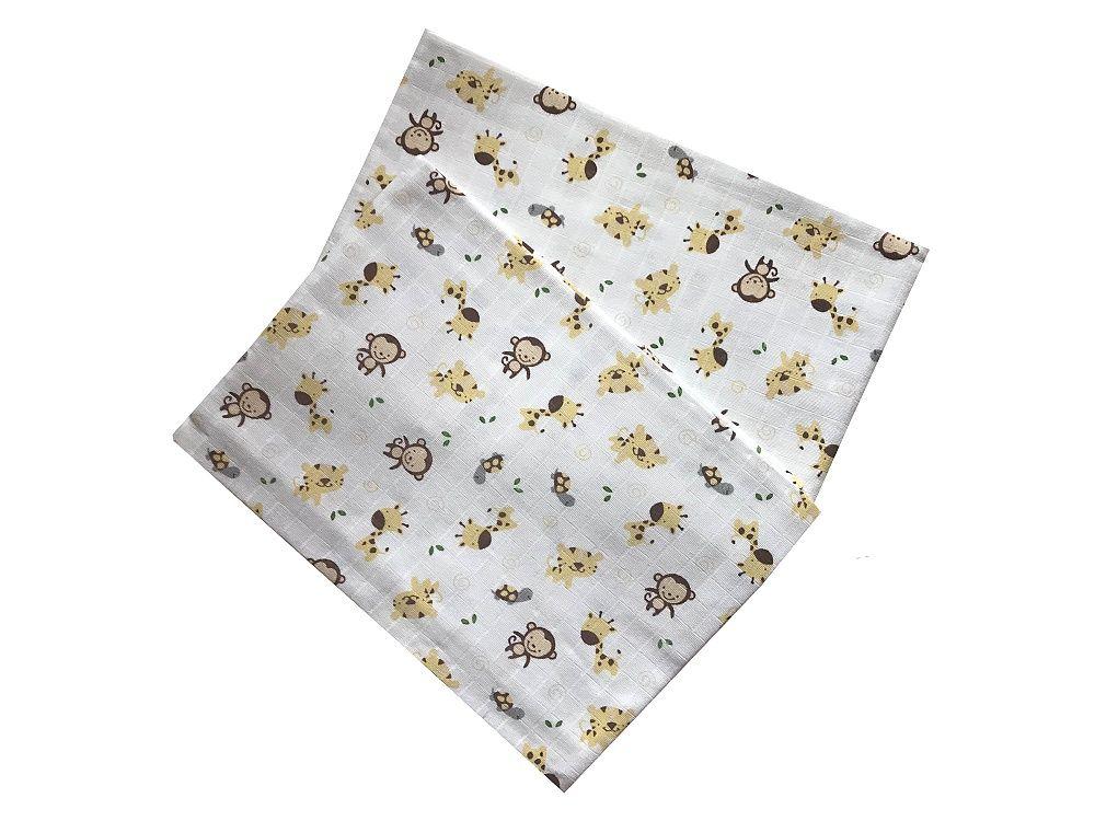 Bavlněné tetra osušky pro kojence s motivem zvířátek Safari PREM INTERNACIONAL