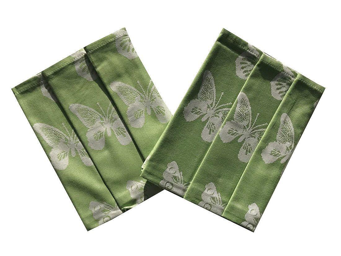 Utěrky extra savé zelené s motivem motýlů - Motýlci Svitap