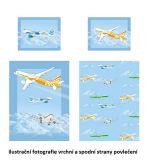 Velmi kvalitní bavlněné povlečení s motivem letadel. Matějovský