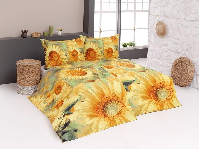 Bavlněné povlečení Sunflower s motivem slunečnic v digitálním tisku Matějovský