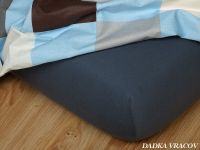 Jersey prostěradlo tmavě šedé 90x220x18 cm II.jakost