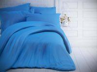 Jednobarevné bavlněné povlečení modré