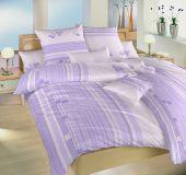 Bavlněné povlečení fialové se vzorem kostek Dadka