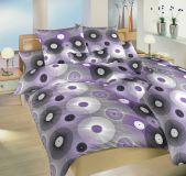 Bavlněné povlečení fialové barvy s motivem kružnic Dadka