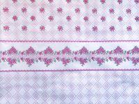 Povlečení bavlna Retro květiny růžové