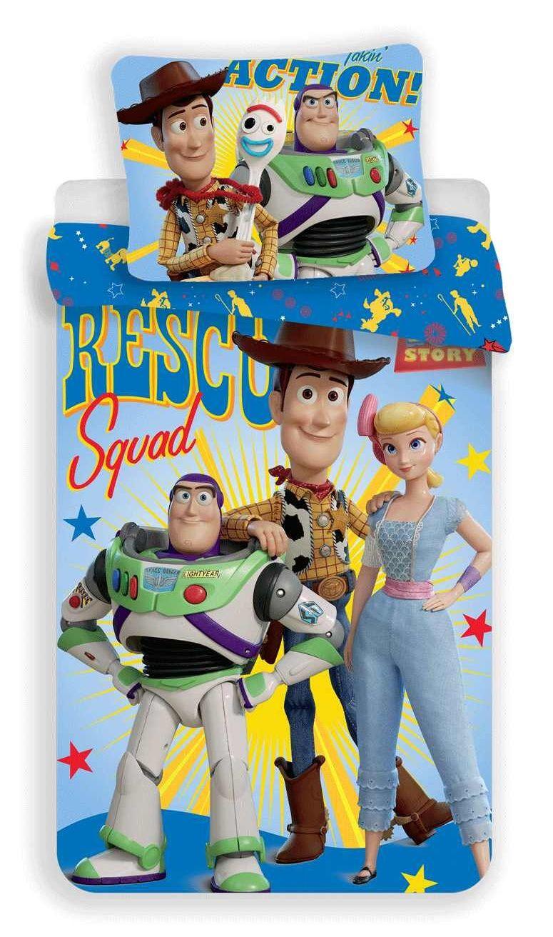Bavlněné povlečení Toy Story na modrém podkladu Jerry Fabrics