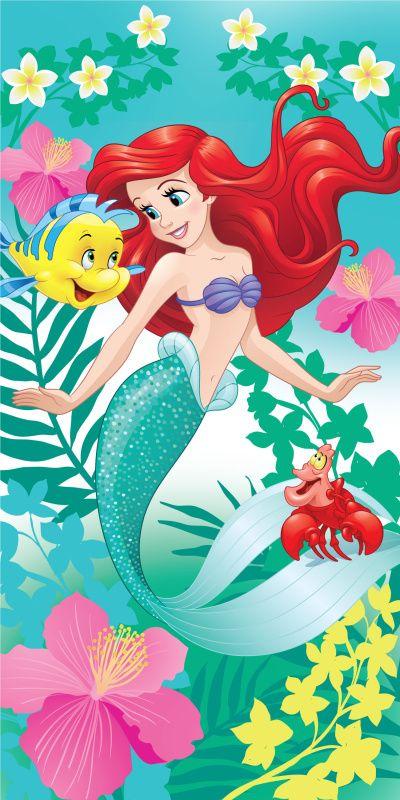 Dětská osuška Ariel zelená Jerry Fabrics