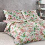 Luxusní damaškové romantické povlečení se vzorem květů Veba