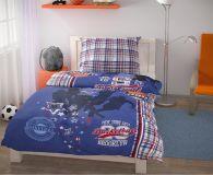 Ložní povlečení pro mladé 140x200, 70x90cm Basket modrý