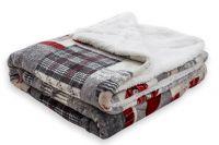 Beránek deka z mikroflanelu Patchwork šedo-červený