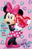 Dětská fleecová deka Minnie pink