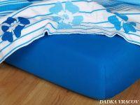 Jersey prostěradlo královská modř 90x200x18 II.jakost