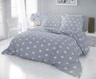 Bavlněné moderní povlečení DELUX STARS šedé